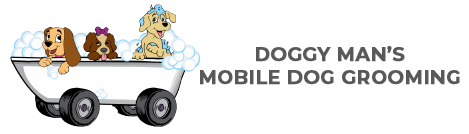 Doggy Man's Mobile Dog Grooming Logo